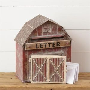 Other - Rustic Red Barn Shaped Mailbox
